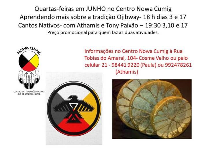 Quartas-feiras em JUNHO no Centro Nowa Cumig